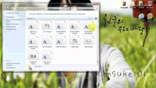 Download Cute Korean Fonts onto PC