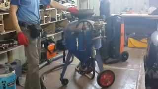 обзор пескоструйной установки АСО-150 часть 1 (подготовка)