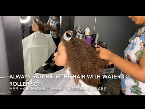 Xxx Mp4 When She Sees Her Hair Straight For The First Time The Magic Of Roller Set 3gp Sex