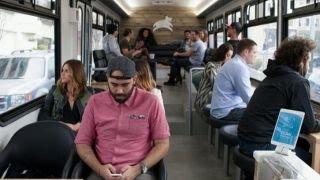 Leap brings high-tech bus rides to San Francisco