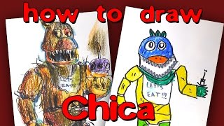 How To Draw Nightmare Chica From FNaF By Step Drawing