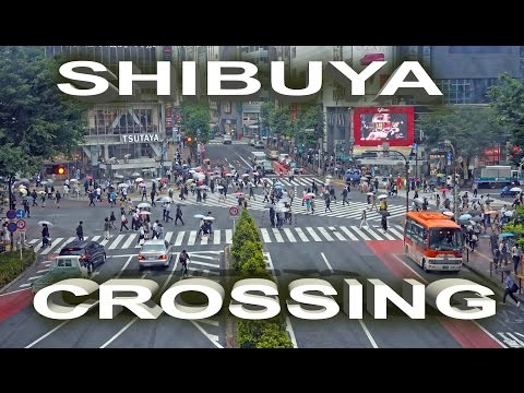 Shibuya Crossing, Tokyo -2016 4K 渋谷の交差点