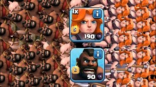 Clash Of Clans - MAX HOVA TROOP COMP!! (New troop composition gameplay!!)