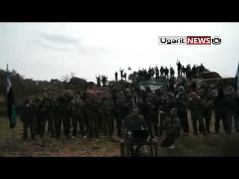 9 2 2012 أوغاريت تشكيل كتيبة احرار الشمال في ريف حلب الملازم بلال خبير