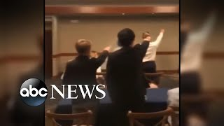 New videos show students appearing to throw Nazi salutes l ABC News