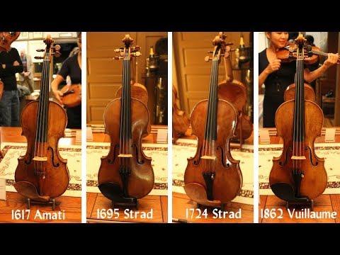 Demonstration of Stradivari Amati and Vuillaume violins from Florian Leonhard