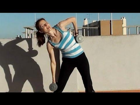 AFIRMAR Y ADELGAZAR LA CINTURA Rutina de ejercicios para oblícuos con pesas