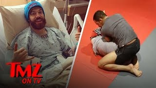 UFC Fighter Literally Busts His Balls | TMZ TV
