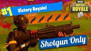 تحدي الشوت جن فقط أفضل فيديو في حياتي Shotgun Only Challenge | فورت نايت