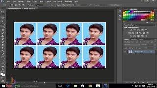 How to make passport size photo using adobe Photoshop cs6 - Hindi / Urdu
