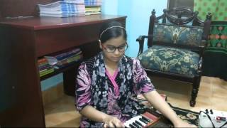 Anusha is singing Gham Ka Khazana Tera Bhi Hain Mera Bhi