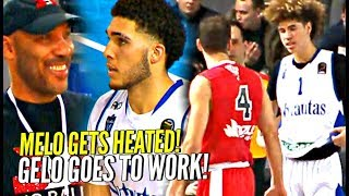 LaMelo & LiAngelo Ball Do WORK vs GROWN Men! Melo Gets Into Heated Exchange in 4th Lithuania Game!