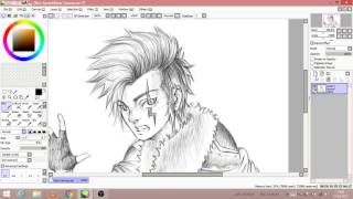 Let's Sketch In Paint Tool Sai[My OC]-My First Digital Drawing
