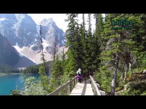 Virtual Hike Moraine Lake Banff National Park Alberta Actual Sound 18min