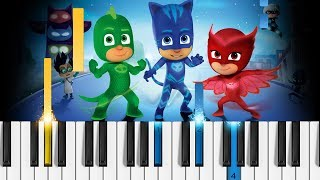 PJ MASKS Theme Song - Piano Tutorial / Piano Cover