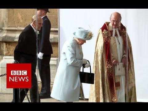 Xxx Mp4 Royal Wedding The Queen Arrives BBC News 3gp Sex