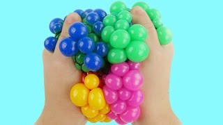 Learn Colors w Squishy Balls for Kids & Children Finger Family Nursery Rhymes Play Doh Compilation