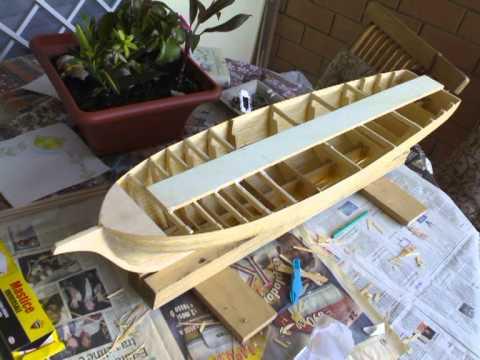 costruzione brigantino goletta 1 PARTE scafo modellismo rc navale built brigantine schooner.mpg