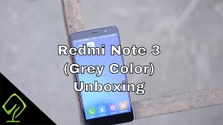 Unboxing of Xiaomi Redmi Note 3(Grey Color)