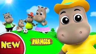 Hippo Finger Family | Farmees Nursery Rhymes | Kids Songs | Videos For Babies
