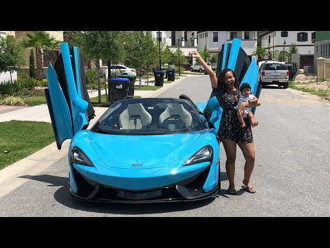 SURPRISING GIRLFRIEND WITH DREAM CAR THE MCLAREN VERY EMOTIONAL