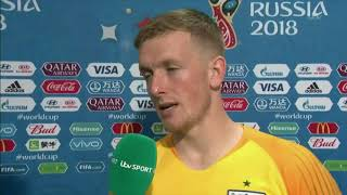 ENGLAND 1 - 2 CROATIA   JORDAN PICKFORD POST MATCH INTERVIEW
