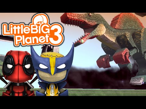 ESCAPE THE DINOSAURS! | Little Big Planet 3 Multiplayer (3)