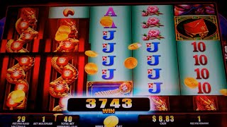 Lantern Festival Slot Machine Bonus + Retriggers - 30 Free Games with Expanding Reels - Big Win