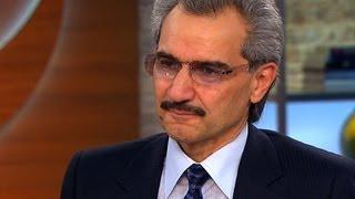 Saudi Arabian billionaire prince on his country's economic futures in wake of tumbling gas price