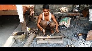 Indian Blacksmith making grilles Amazing skills and strength