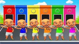 Belajar warna bahasa indonesia dengan upin dan ipin dan sopo jarwo by alya & rizal
