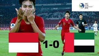 INDONESIA U-19 VS Uni Emirat Arab U-19 (AFC U-19) 1 - 0