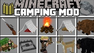 Minecraft EXTREME CAMPING MOD / SET UP GIANT CAMPING SITES AND SURVIVE THE NIGHT!! Minecraft