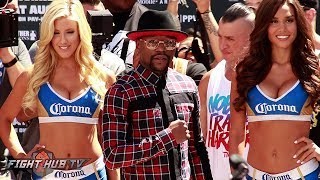 FLOYD MAYWEATHER'S FULL GRAND ARRIVAL FOR THE MAYWEATHER MCGREGOR FIGHT