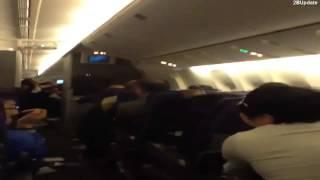 Video impactante! Gran turbulencia en un vuelo de american airlines