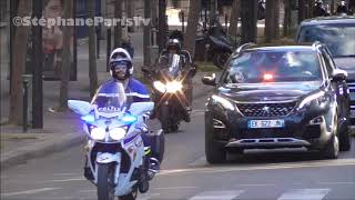Emmanuel Macron French President his convoy.