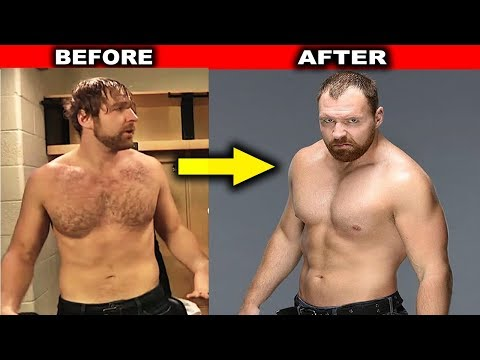 10 Amazing WWE Body Transformations - Dean Ambrose, Undertaker & more