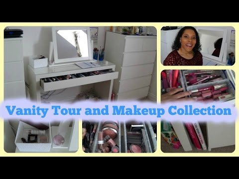 Vanity Tour and Makeup Collection