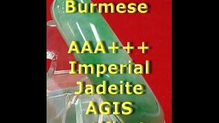Jadeite AAA+++ Jade Burmese Bangle 379.19 carats AIGS certification 56.74 mm / 2.23 in.