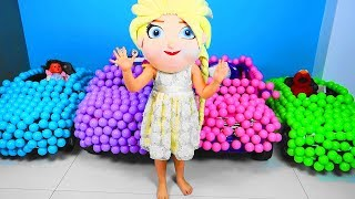 Baby Balls Fun with Kids Playing Toys