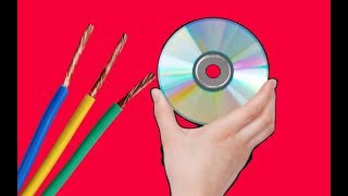 شاهد ماذا يحدث عندما تضيف سلك نحاسي إلى قرص CD ،  لن ترمي بها بعد اليوم