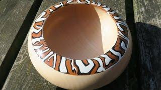 Woodturning a Marbled Milliput Margin Bowl