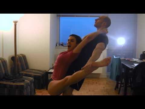 Nina Burri Funny Leg Stretching