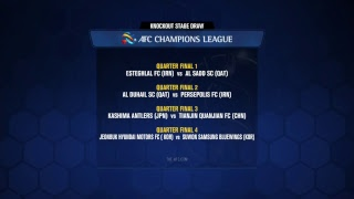 AFC Champions League 2018 Knockout Stage Official Draw