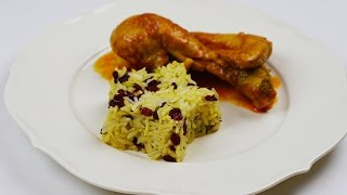 Persian Barberry Rice & Juicy Chicken بهترین روش تهیه زرشک پلو با مرغ مجلسی
