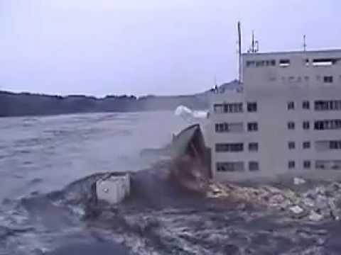 Vidéo de la Vague du Tsunami au Japon Raz de marée