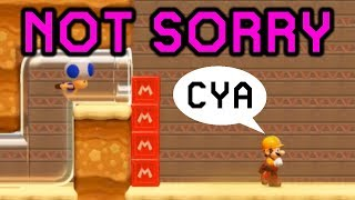 Being a bad person in Multiplayer VS (Super Mario Maker 2) | Multiplayer #1