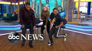 The man behind a hot dance craze, Shiggy, busts a move on