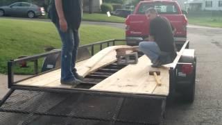 Replacing 16' trailer boards (No welding)