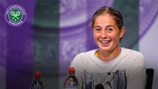 Jelena Ostapenko Wimbledon 2017 pre-tournament press conference